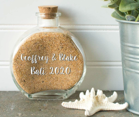 Beach Sand Bottle Honey Moon Memory Personalized