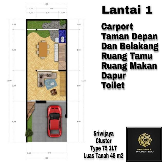 desain lantai 1 sriwijaya cluster