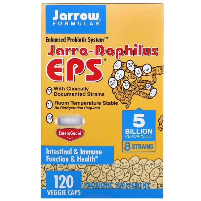 Jarrow Formulas, Jarro-Dophilus EPS, 5 млрд клеток, 120 растительных капсул
