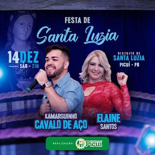 Em Picuí, Distrito de Santa Luzia do Seridó realizar sua Festa da Padroeira dias 13 e 14 de dezembro