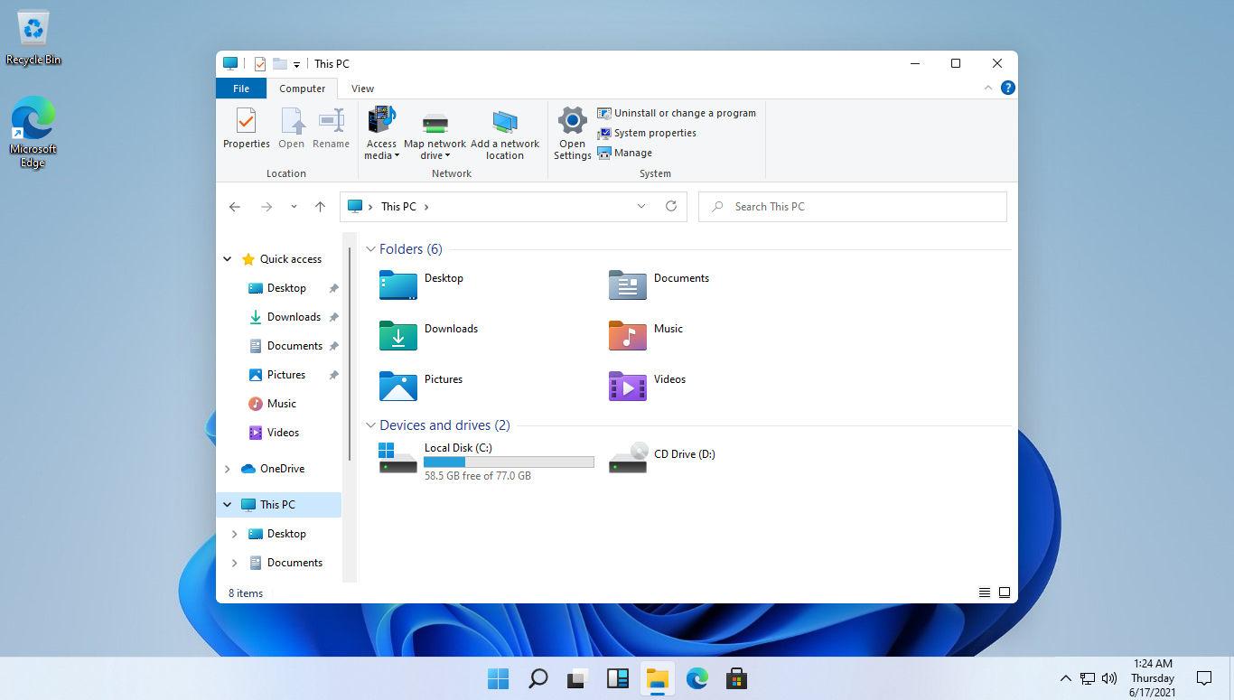 Windows 11 Menüsü