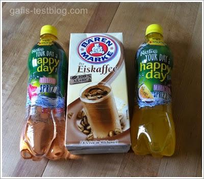 Flaschen Rauch Happy Day und Bärenmarke Eiskaffee