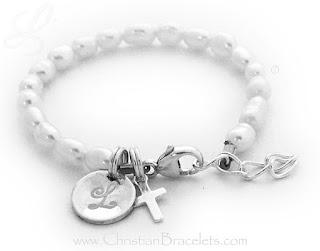 Little Girl Pearl, Cross & Monogram Charm Bracelethttps://christianbracelets.com/pearl-charm-bracelets.html#jewelry