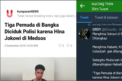 Menghina Jokowi 3 Pemuda Langsung Ditangkap, Menghina Ulama Gak Ditangkap!