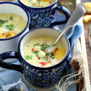 Receta para preparar sopa de maíz dulce asado