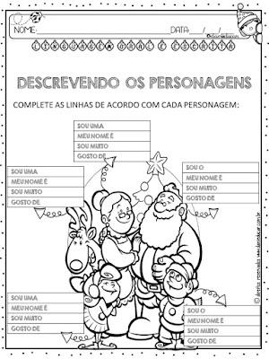 Natal, Atividades de Língua portuguesa, Atividades de alfabetização, sistema de escrita alfabética, descriçao, Palavra Secreta,