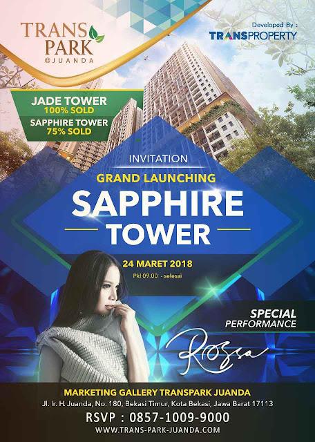 launching sapphire tower trans park bekasi