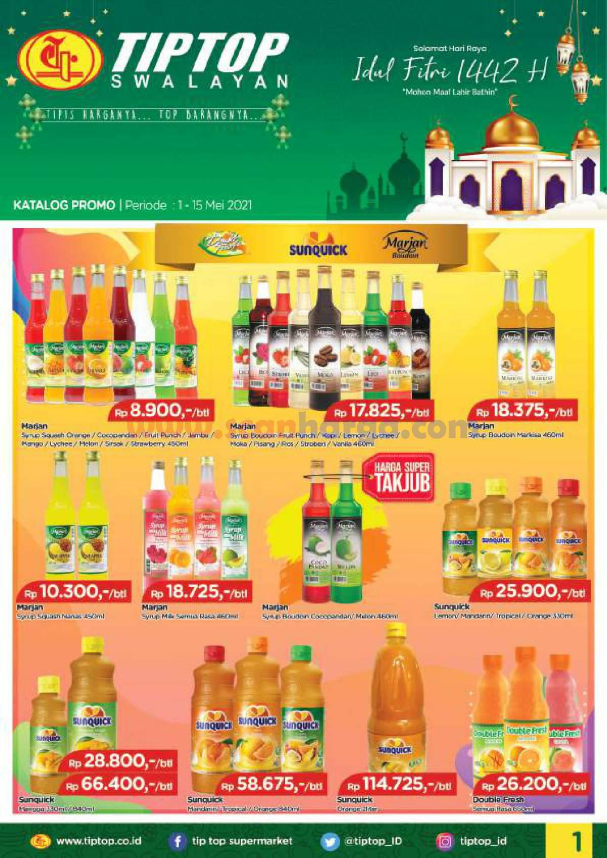 Katalog Promo Tip Top Pasar Swalayan 1 - 15 Mei 2021