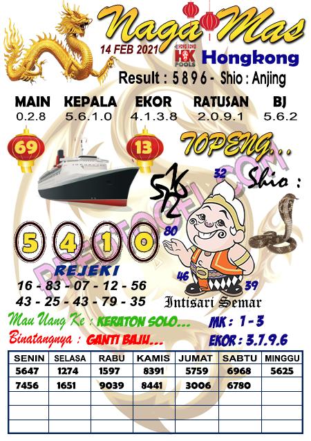 Syair Hk Nagamas Minggu 14 Februari 2021