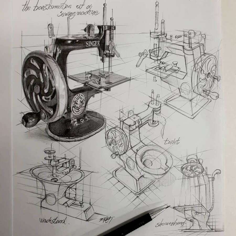 12-Singer-sewing-machine-anjjaemi-www-designstack-co