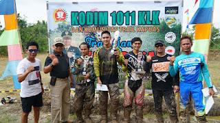 Kodim Kuala Kapuas Bersama IMI dan Komunitas Trail Gelar Trail Game
