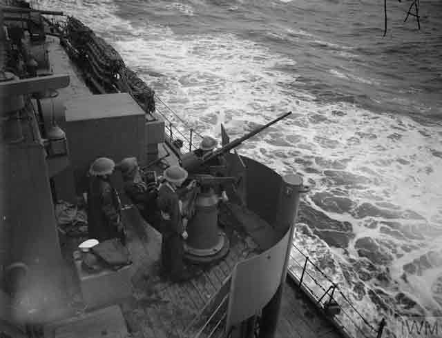 Oerlikon gun on HMS Naiad, 14 December 1941 worldwartwo.filminspector.com