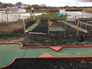 Crazy Golf course at the Southwold Boating Lake & Cafe on North Parade. Photo by Jo Tubby, 18 March 2017