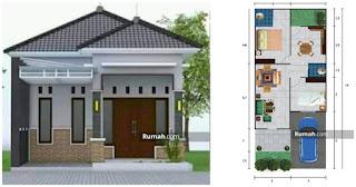 desain rumah ukuran 6x14 sederhana - desain rumah minimalis