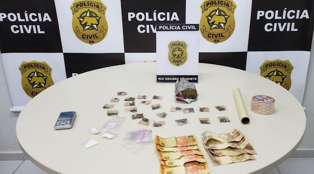 Polícia Civil prende suspeitos de tráfico de drogas em Cidade do RN