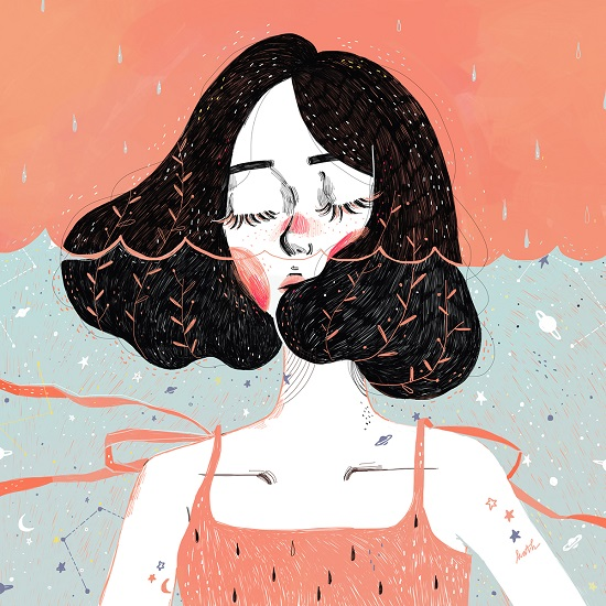 """Drowning in thoughts"" por Kathrin Honesta 