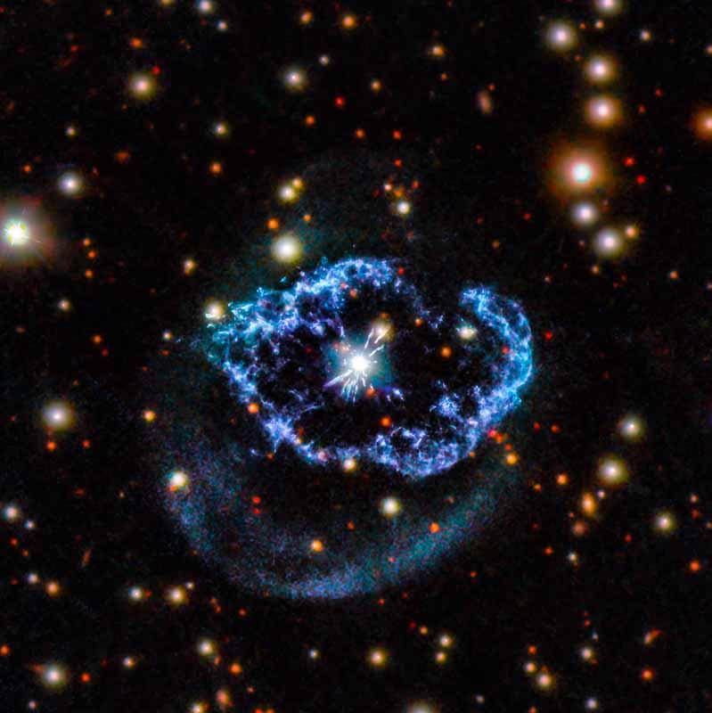 Um flash de vida na constelação do Cisne