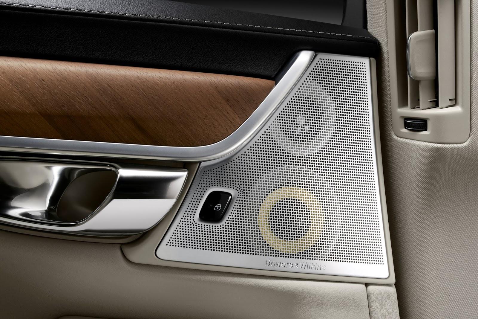 170135 Interior Bowers and Wilkins Rear Door Speakers Volvo S90 1 Το νέο Volvo S90 έρχεται και βάζει φωτιά στον ανταγωνισμό premium sedan, Volvo, Volvo Cars, Volvo S90