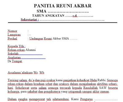 File Pendidikan Download Contoh Proposal Kegiatan Reuni Akbar SMA, SMK, MA Atau Yang Sederajat