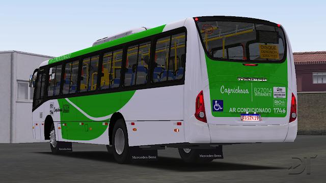 OMSI 2 - Neobus Mega Plus MB OF-1721 BT5 AC padrão Flores/Caprichosa (RJ)