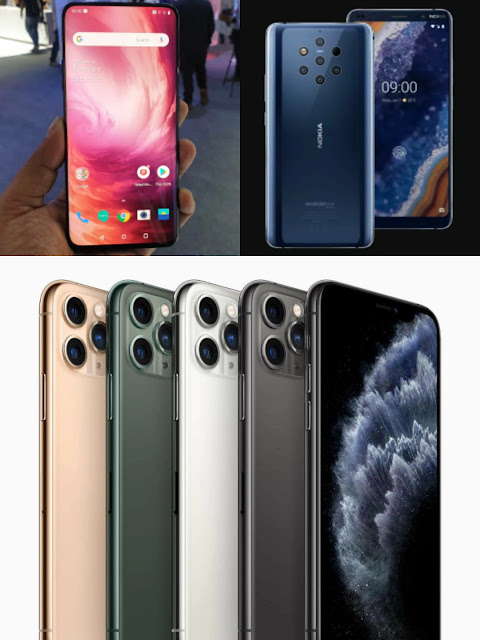 Apple iphone 11 Pro Vs Nokia nine PureView Vs OnePlus seven Pro: Specs, Features, Prices