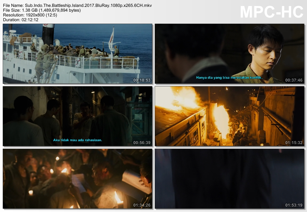 Screenshots Download Film Gratis The Battleship Island (2017) BluRay 1080p X265 HEVC 6CH Subtitle Indonesia MKV Nonton Film Gratis Free Full Movie Streaming