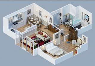 Beberapa Contoh Sketsa Rumah Minimalis 1 Lantai