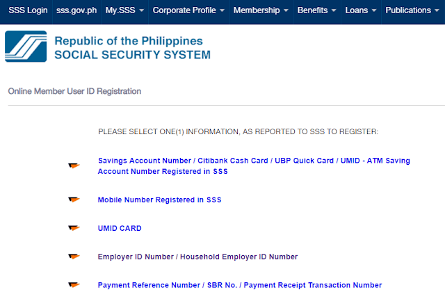 sss online page