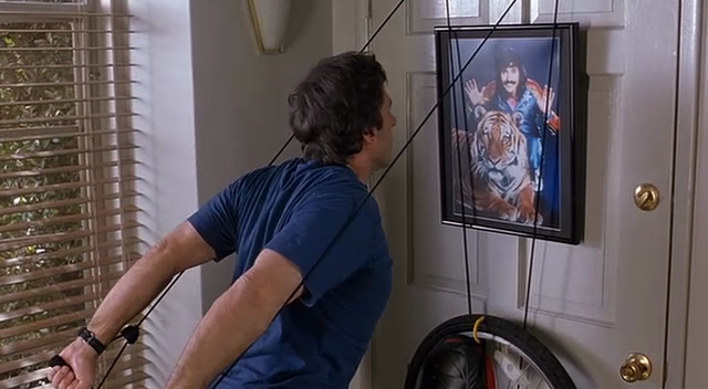 He Works Out While Looking At A Picture Of Doug Henning