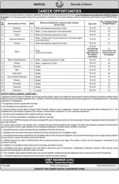 Latest Jobs in Pakistan WAPDA Jobs 2021