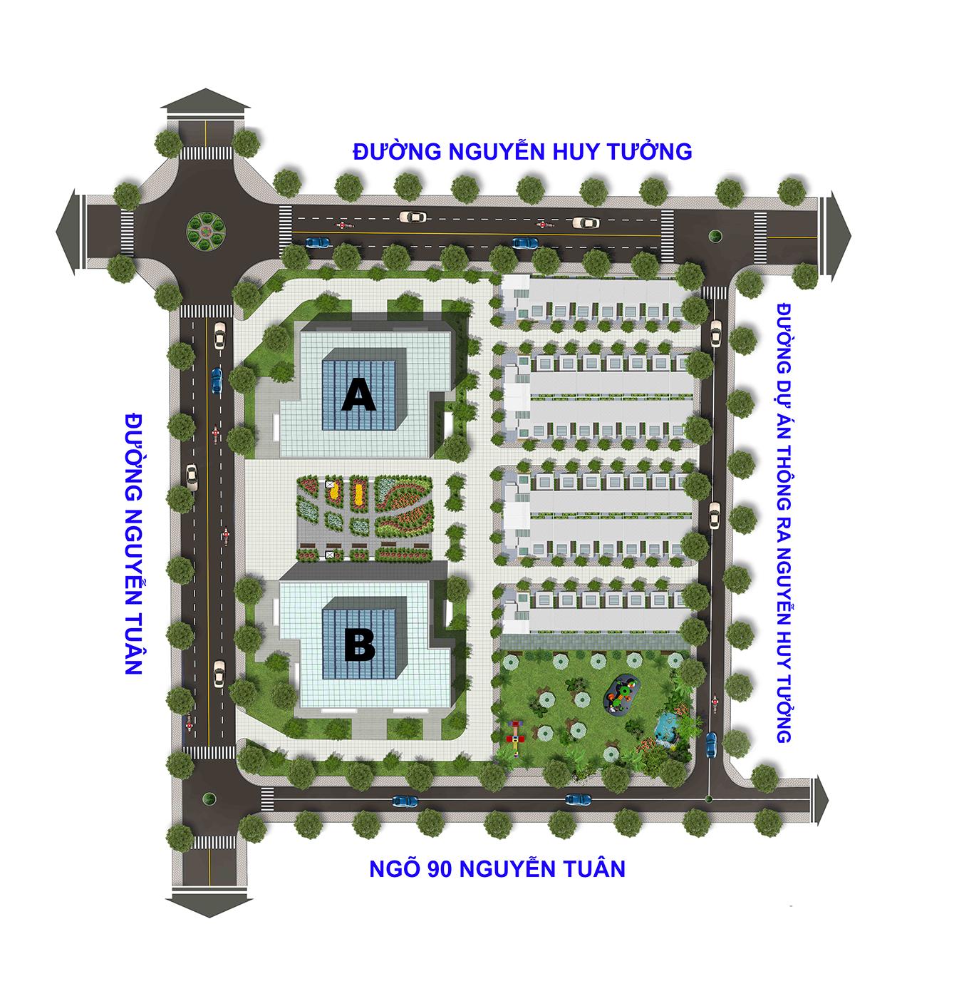 Mặt bằng tổng thể dự án chung cư Thống Nhất Complex