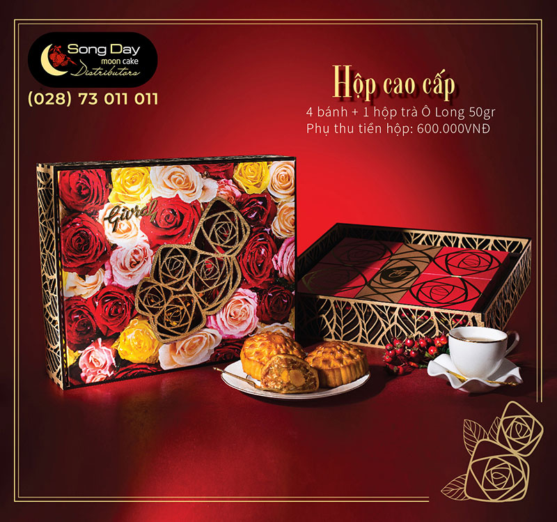 hộp givral 4 bánh cao cấp