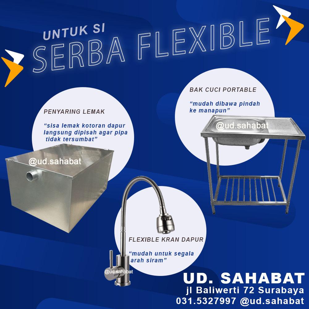 perlengkapan peralatan renovasi dapur hemat fleksibel