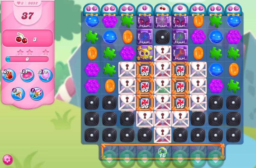 Candy Crush Saga level 9652