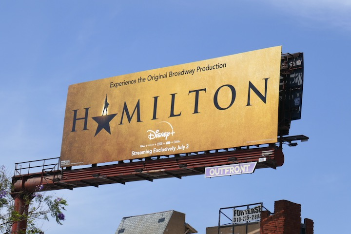 Hamilton movie billboard