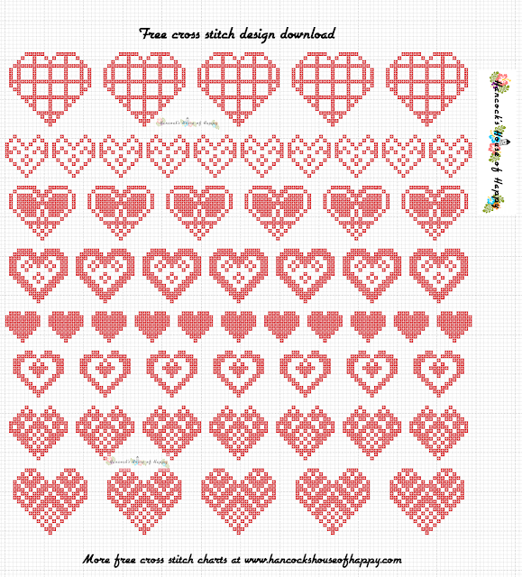 Free Heart Cross Stitch Sampler Pattern to Download
