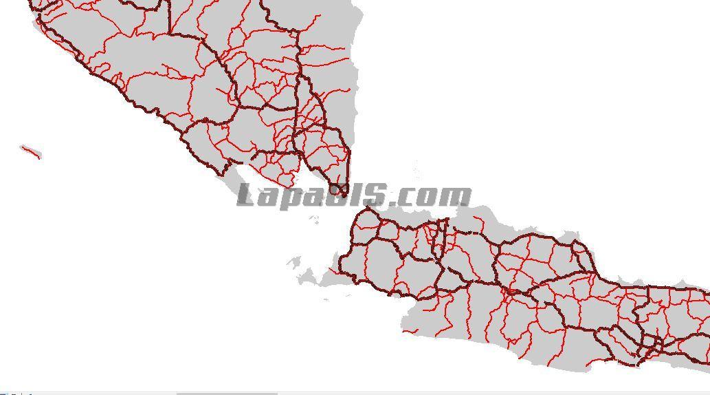 Shapefile Jaringan Jalan Nasional & Provinsi Indonesia Terbaru