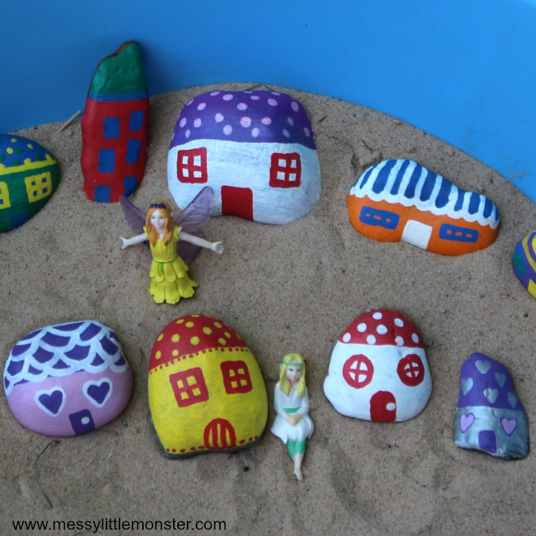 painted rock crafts for kids
