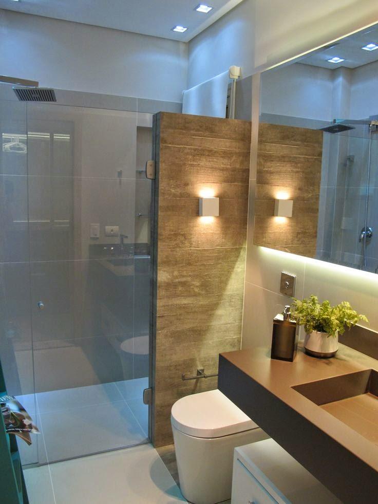 banheiro -com- porcelanato- madeira-arquitetura