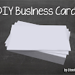 Stretch Your Peso: DIY Business Cards