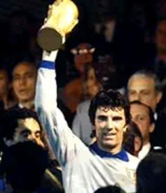 Dino Zoff was the first Italian captain to lift Gazzaniga's trophy