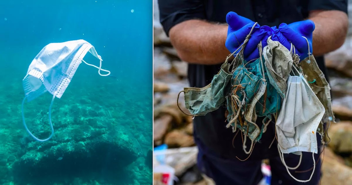 Environmental Group Says 1.5 Billion Facemasks Entered The World's Oceans In 2020