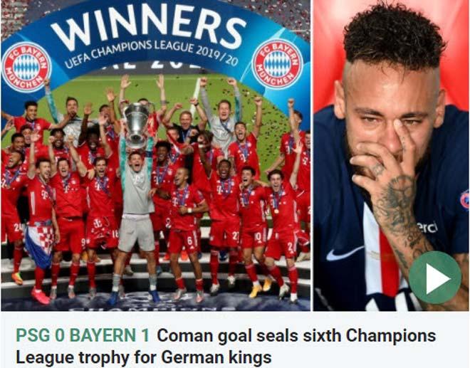Bayern Munich vô địch Cúp C1: Báo chí ngợi ca người hùng bất ngờ hạ PSG 2