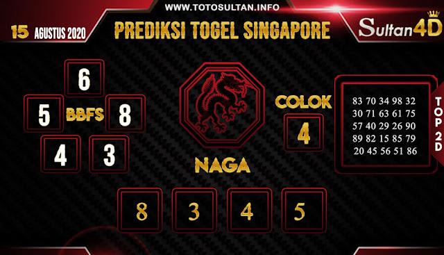 PREDIKSI TOGEL SINGAPORE SULTAN4D 15 AGUSTUS 2020