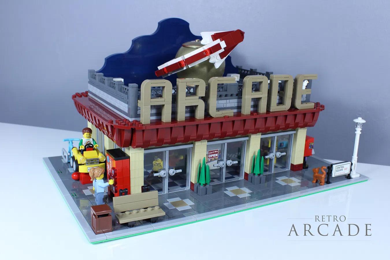 レゴアイデアで『動くレトロ・ゲームセンター』が製品化レビュー進出!2021年第1回1万サポート獲得デザイン紹介