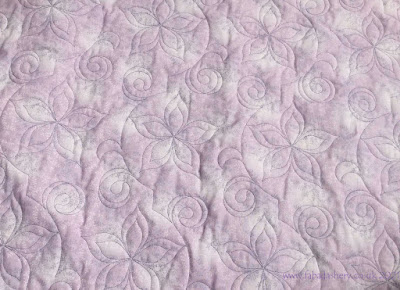 'Plumeria Party' digital quilting pattern, designed by Christy Dillon