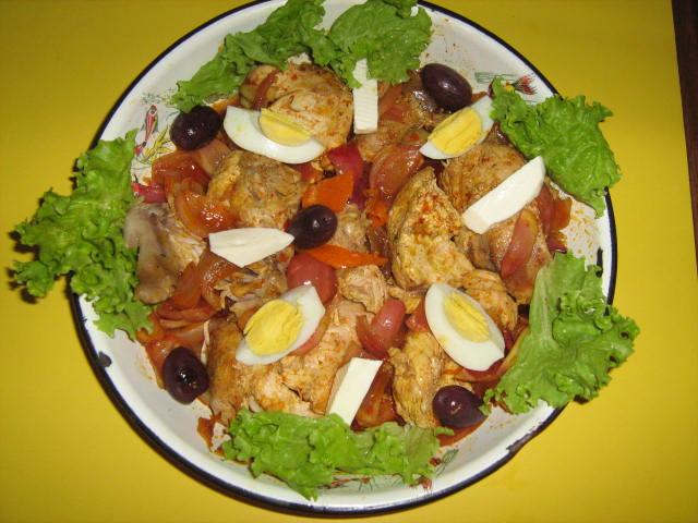 escabeche de gallina receta facil