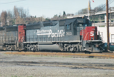 Southern Pacific GP40-2 #7613 at Albina Yard in Portland, Oregon