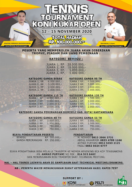 Kejuaraan Tenis KONI Kukar Open 2020