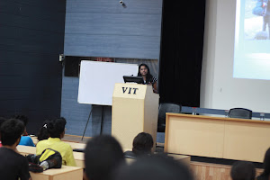 Deepika delivering lecture
